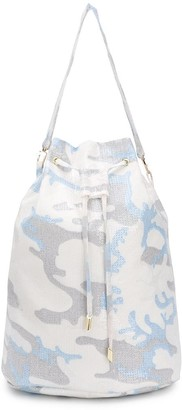 Atu Body Couture Camouflage Print Bucket Bag
