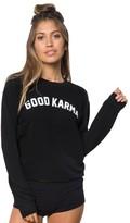 Spiritual Gangster Good Karma Arch Crop Sweatshirt