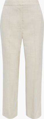 Stella McCartney Carlie Cropped Melange Canvas Straight-leg Pants