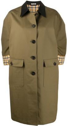 Miu Miu Oversized Cutaway Collar Coat