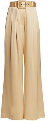 Zimmermann Ladybeetle Wide-Leg Silk Pants
