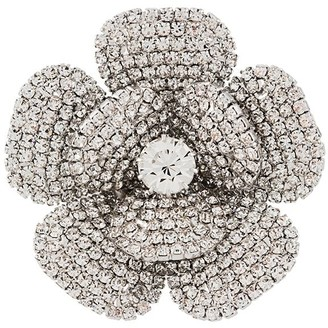 Alessandra Rich Crystal-Embellished Flower Earrings