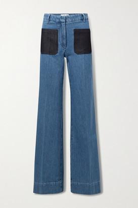Victoria Beckham High-rise Wide-leg Jeans - Mid denim