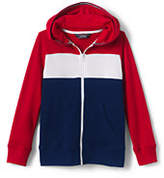 Lands' End Little Boys Color Block French Terry Hoodie-Deep Sea