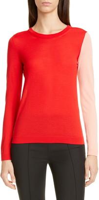 PARTOW Greta Colorblock Virgin Wool Sweater