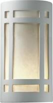 "575 Denim Abtal Outdoor Flush Mount Wrought Studio Bulb Type: Incandescent, Finish: Bisque, Size: 9.5"" H x W x 4.5"" D"