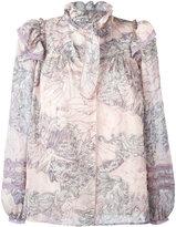 Marc Jacobs ruffle collar blouse - women - Silk/Cotton - 4
