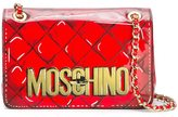 Moschino trompe-l'oeil logo shoulder bag
