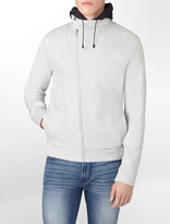 Calvin Klein X Extreme Slim Fit Asymmetrical Hooded Zip-Up Jacket