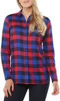Peter Nygard Button Back Plaid Top