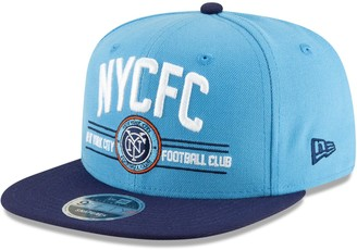 New Era New York City FC Satin Two-Tone 9FIFTY Snapback Adjustable Hat - Sky Blue/Navy