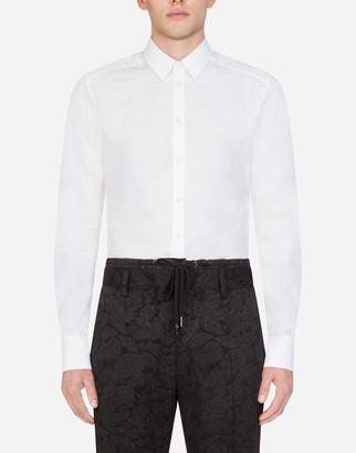 Dolce & Gabbana Cotton Jacquard Martini Shirt
