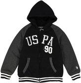 U.S. Polo Assn. Black 'USPA 90' Sherpa-Lined Fleece Hoodie - Boys