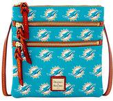 Dooney & Bourke Dolphins Triple Zip Crossbody Bag