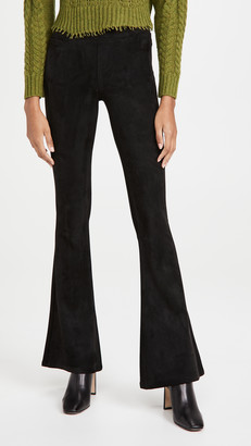 Blank Microsuede Pull On Flare Pants