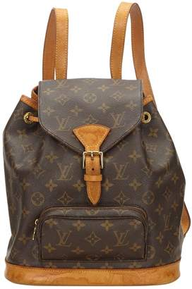 Louis Vuitton Vintage Montsouris Brown Cloth Backpacks