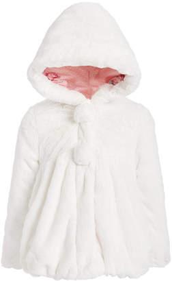 S. Rothschild Little Girls Hooded Teddy Plush Faux-Fur Jacket
