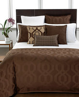 Hotel Collection CLOSEOUT! Modern Hexagon Chocolate Queen Duvet Cover