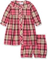 Rachel Riley Baby Girls' Check Button-Front Bloomers Dress