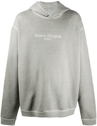 Maison Margiela Logo Embroidered Oversized Hoodie
