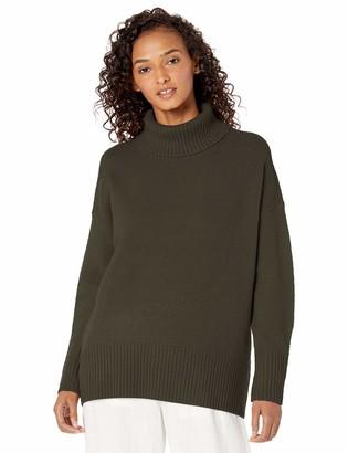 Daily Ritual Amazon Brand Women's Oversized Cozy Boucle Turtleneck Sweater
