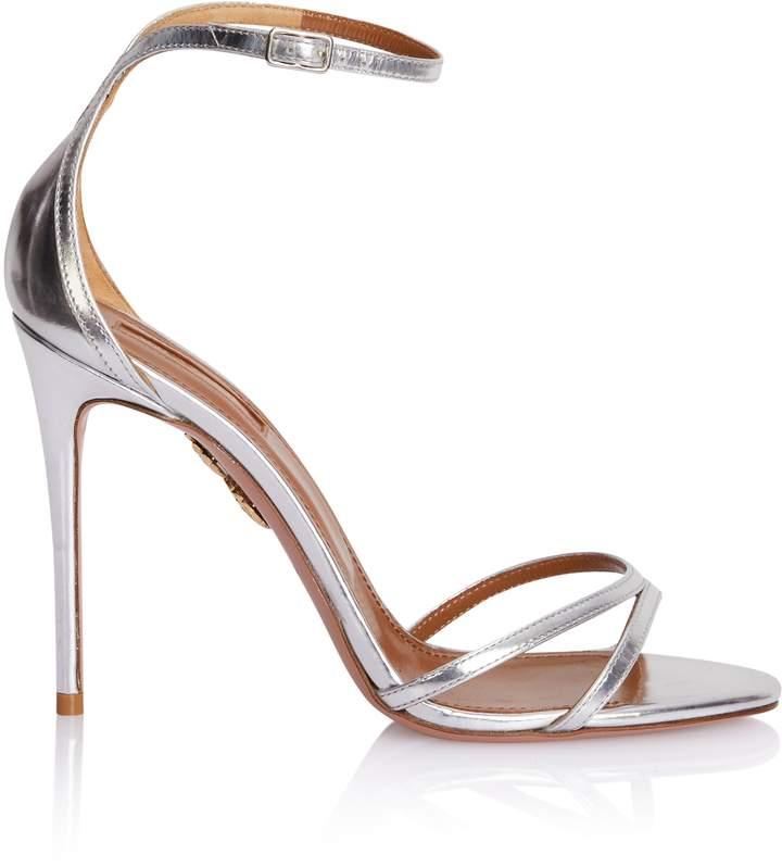 Aquazzura Purist Sandal in Silver Specchio