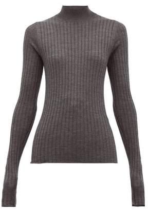 Acne Studios Kulia Ribbed-knit Wool Sweater - Womens - Grey