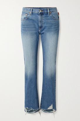 Denimist Joni Cropped Distressed Mid-rise Slim-leg Jeans