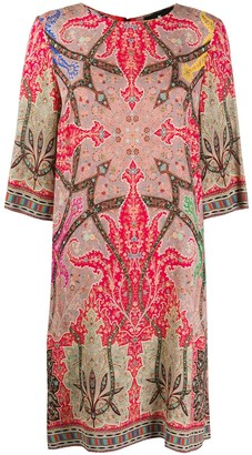 Etro Scarf Print Shift Dress