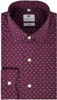 Men's Richard James Mayfair Shadow Square Print Slim Fit Shirt