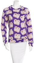 Au Jour Le Jour Long Sleeve Kitten Sweatshirt