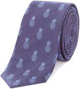 Simon Carter Pineapple Print Tie