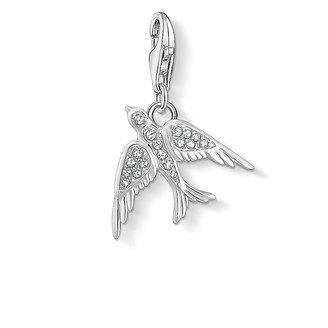 Thomas Sabo Sterling Silver Cubic Zirconia Bird Charm