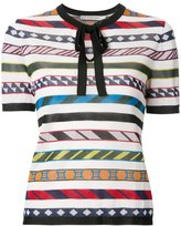 Mary Katrantzou Regina knitted top - women - Viscose - S