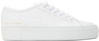 Common Projects White Tournament Low Super Sneakers