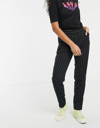 People Tree handwoven pinstripe pants