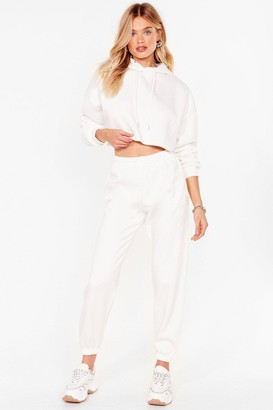 Nasty Gal Womens It's Just That Easy Joggers Lounge Set - White - M/L