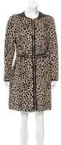 3.1 Phillip Lim Leather-Accented Fur Coat