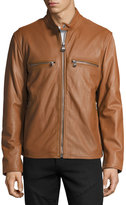 Andrew Marc Bedford Leather Moto Jacket, Cognac