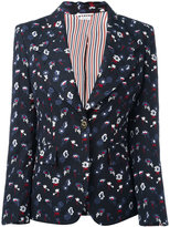 Thom Browne floral embroidery jacket - women - Wool/Silk/Cotton - 42