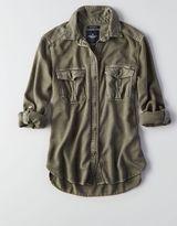 American Eagle AEO Woven Utility Shirt