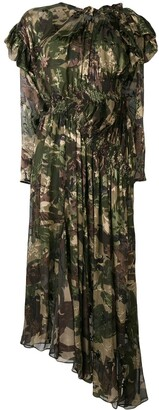 Preen by Thornton Bregazzi Stephanie camouflage flared dress
