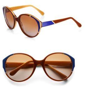 Marni Oversized Oval Plastic Sunglasses