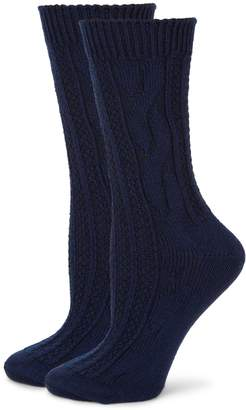 Hue 2-Pack Cable-Knit Boot Socks