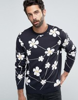 Asos Sweater With All Over Floral Design
