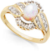 Macy's Opal (1/2 ct. t.w.) and Diamond (1/3 ct. t.w.) Ring in 14k Gold