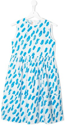 Marni Paint Brush Pattern Dress
