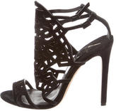 Brian Atwood Suede Cutout Sandals