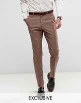 Heart & Dagger Slim Wedding Suit Trousers In Linen Mix