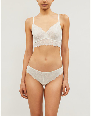 Hanro Aria stretch-lace bra